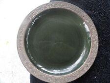 Sango Rustic Green Brown Rim Green Dinner Plate 7631