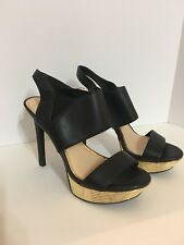Jessica Simpson Women's Shoes Size 7.5 Stiletto Heels Black Gold