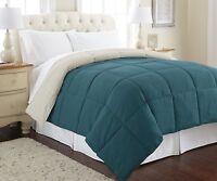 Goose Down Alternative Microfiber Quilted Reversible Comforter/Duvet Insert F/Q