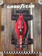 RARE Goodyear Ferrari Formula One Nigel Mansell Promotional Poster 22 x 28