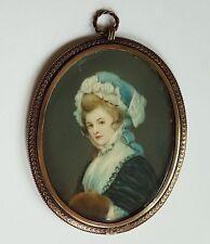 Miniatur Portrait, einer jungen Dame, Gouache, Miniaturist des 19. Jahrhunderts