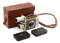 Kiev-16 C-2 (S-2) 16mm Soviet Movie Camera w/ Lenses, Cassettes & Case!