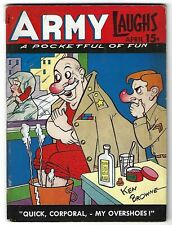 Army Laughs Vol. 5 No. 1 April 1945 - Ken Browne cover - Bill Wenzel covers