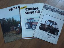lot de trois prospectus tracteurs agricoles FIAT