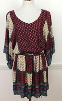 American Eagle Outfitters M Dress Bohemian Floral Patchwork Hippie NEW $49.95