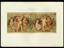 FRISE AVEC PUTTI -1910- PHOTOLITHOGRAPHIE, GIUSEPPINA POZZI, ENFANTS, VIGNES