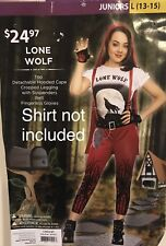 Lone Wolf Halloween Costume Junior L 13-15  4-Piece Cosplay No Shirt Included