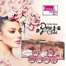 Fantasy nails  Rose Gold New acrylic collection **FREE 2 DECORATIONS**