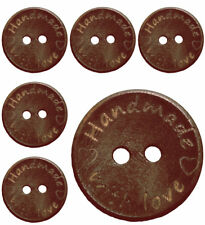 90Pcs Wholesale Dark Brown Wooden Buttons with 2 holes 20mm/0.79'' (29-30L)