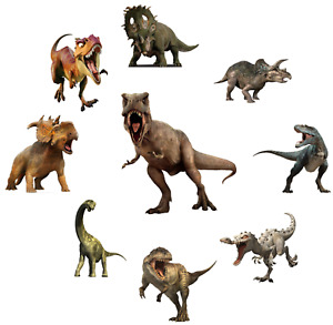 DINOSAURS T-REX TRICERATOPS LOT OF  STICKER WALL DECAL CHARACTERS