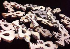 "Hand Carved Bone "" Ankh "" 60 pcs lot - Craft Supplies - Rasta, Ethiopian, Coptic"