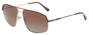 Tom Ford Justin Sunglasses FT0467 50H Brown Gold | Brown Gradient Polarized Lens