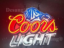 "Coors Light Mountain Beer Neon Sign 19""x15"" with HD Vivid Printing Technology"