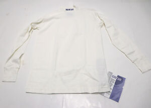 SPARCO Maglia Long Sleeve UNDERWEAR Top Shirt NOMEX Racing SMALL Soft White NEW