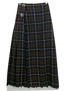 Vintage Geoffrey Royal Mile Scotland Wool Plaid Kilt Skirt Green Small 6 EUC