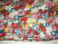 3/PC Ralph Lauren Thousand Flowers Ruffled Duvet Set Shams Full Queen Floral A+