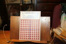 Vintage Punch Board 5 Cent Candy Sales