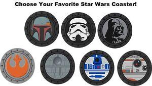 Plasticolor Star Wars Darth Vader Stormtrooper Cup Holder Coaster Universal 2 PK
