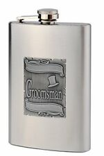 8oz Groomsman Flask, The Perfect Gift for Your Groomsmen, FREE PERSONALIZATION