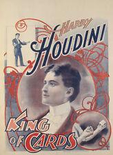 Magier Harry Houdini - King of Cards - Kunstdruck / Poster - NEU in Din A2