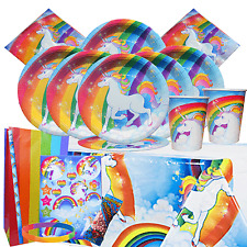 Unicorn Party Kit 2 For 8 to 16 Children | Unicorn Tableware & Party Bags