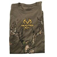Realtree Xtra Graphic T-Shirt XL Deer Camo Hunting Outdoors Cotton Mens Tee Logo