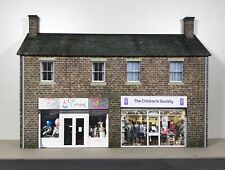 More details for o gauge 7mm 1:43 low relief building - two shops - scratch built #966-o-bs