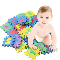 36x Baby Kid Interlocking Foam Alphabet Letter Number Mat Educational Puzzle Toy