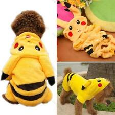 Pet Clothes Dog Pikachu Yellow Sweater Hoodie Cat Coat Puppy Apparel Costume M