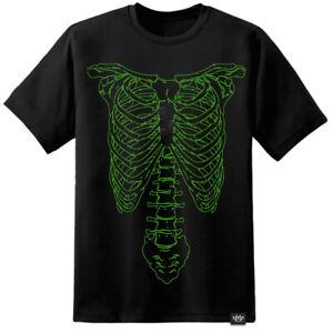 Mens Spinal Tap Nigel Tufnel Green Skeleton Print T Shirt Retro Funny Band Film