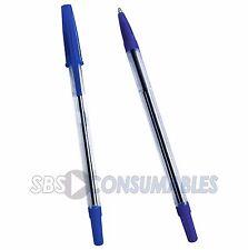 100x WB stylostik Biros Bolígrafos Azul. tinta azul bolígrafo delgado acanalado agarre.