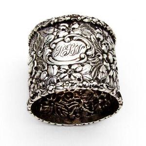 Stieff Rose Napkin Ring Sterling Silver 1910 HLW