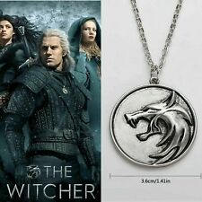 Witcher Netflix Wolf Medallion Necklace Stainless Steel Jewellery Pendant