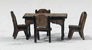 1/144th scale Rectangular kitchen table and four chairs kit NEW!