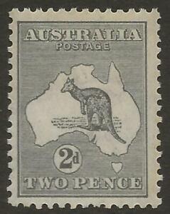 AUSTRALIA 1913 SG3 2d Grey Wide crown Wmk6 Roo MINT Fresh Face Cat £55