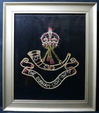 More details for ww2 durham light infantry embroidery dated 1944 militaria collectible