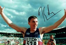 Jonathan EDWARDS Autograph Signed Photo D AFTAL COA British Athlete Triple Jump