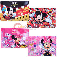 Disney Mickey and Minnie Mouse File Jacket 2pc Portfolio Bag Stationery Set