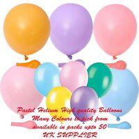 Helium Pastel Style Latex Pale Vibrant Colour Balloon Balloons 5/10/20/50pcs UK