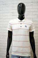 Polo Maglia Uomo REEBOK Taglia XS Camicia Shirt Manica Corta Bianco Herrenhemd