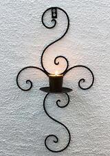Wandkerzenhalter 12112 Kerzenhalter aus Metall Schmiedeeisen 48 cm