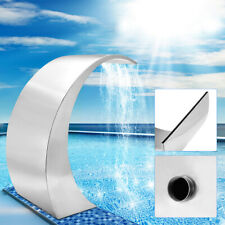 Swimming Pool Waterfall Fountain Stainless Steel Spillway Water Feature Garden ~
