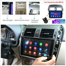 9'' Android 9.1 Stereo Radio GPS WiFi DAB+8 LED Camera For Toyota Corolla 08-13