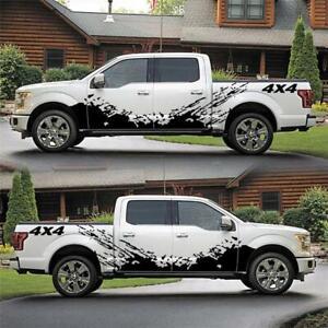 Universal Car SUV Side Skirt Door Racing Decal Mud Splash Vinyl Sticker Graphic