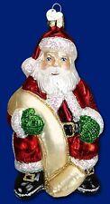 "OVERSIZE Checking His List Santa 5½"" Ornament Old World"