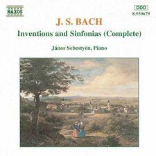 J. S. Bach: Inventions & Sinfonias - Janos Sebestyen (CD 1993) *NEW* FREEUKPOST!