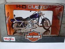 Harley Davidson Model, 2001 FXDWG Dyna Wide Glide (34), Maisto Motor Bike 1:18