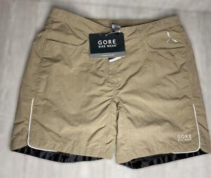GORE BIKE WEAR Women's Path Lady Padded Lined Shorts Khaki Size XXL 34-36 NWT
