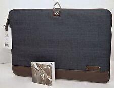 "NEW Brenthaven 1914 Collins Sleeve 2 BLUE Denim 15.4"" Macbook Laptop Travel Case"
