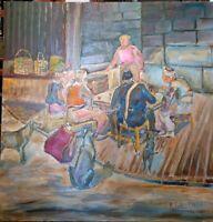 Scene Empire Ottoman. Repas dans la rue.